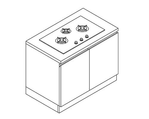 Cabinet for Gas/Electric Stove