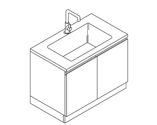 Sink Cabinet with Faucet